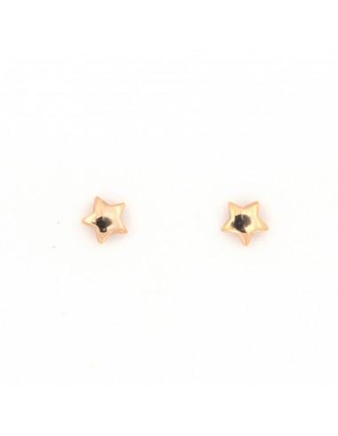 Orecchini stellina Mystar lucide in oro