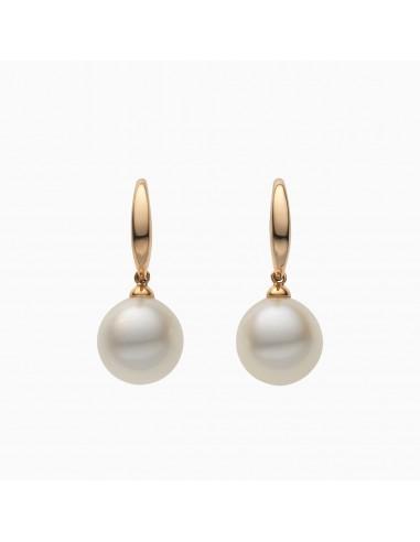 Orecchini pendenti Eternity perla e oro