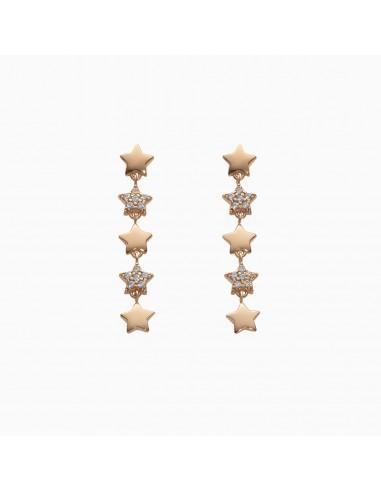 Orecchini pendenti MyStar in oro e pavé