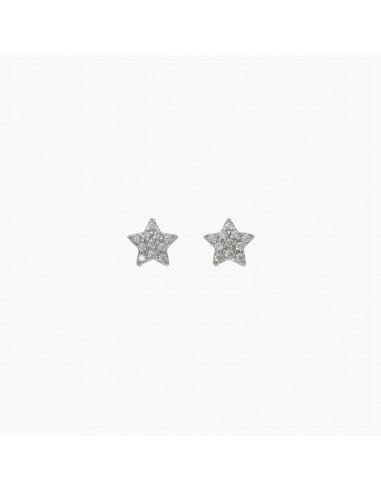Orecchini MyStar stella oro pavé